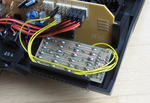 eingebauter Multiswitch-Encoder, Blick in das geöffnete Sendergehäuse