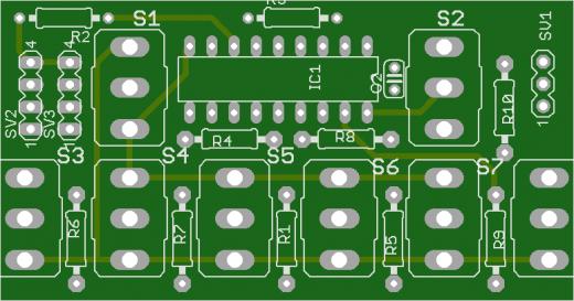Leiterplatte für den 16-K Encoder MC-15