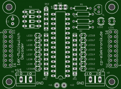 Leiterplatte 16K Multiswitch Decoder (2 A)