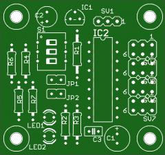 Leiterplatte Servo-Decoder